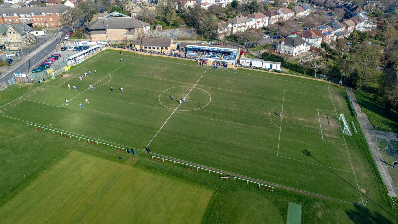 Hallam FC Drone picture