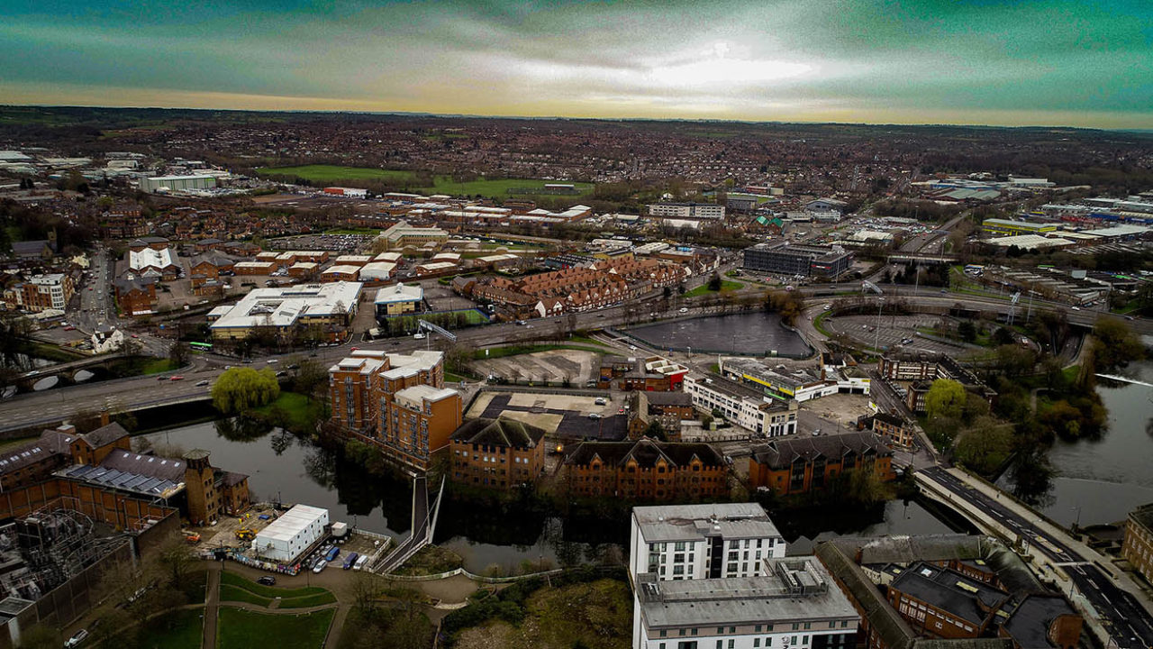 Derby city aerial
